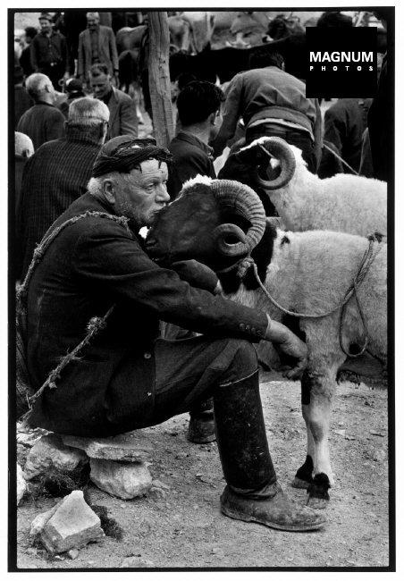 "CRETE.  1967.  Shepherd at market.""A Greek Portfolio""  p.100"
