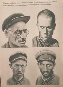 Página del panfleto Der Untermensch (Los infrahombres), 1942, en lo que figuran comisarios soviéticos capturados.