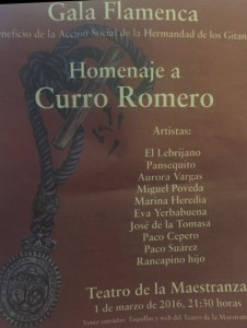 HOMENAJE A CURRO ROMERO