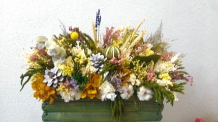 centro flores preservadas otoño