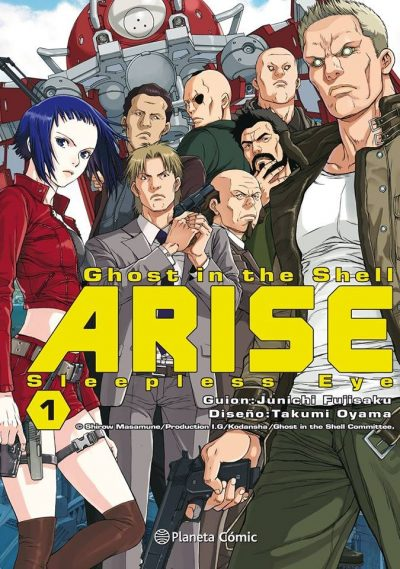 Portada Ghost in the Shell Arise de Planeta Cómic