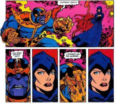 Guantelete del infinito Thanos La Muerte