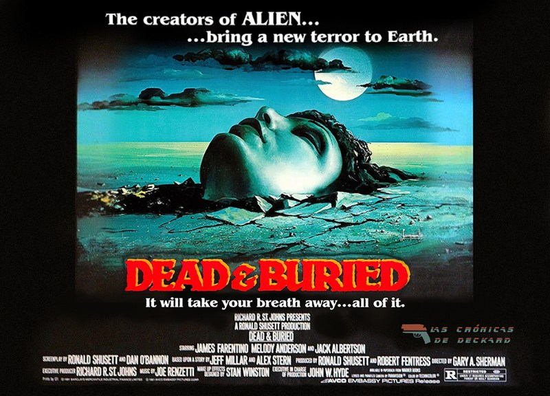 Muertos y enterrados Dead and Buried póster Crónicas de Deckard