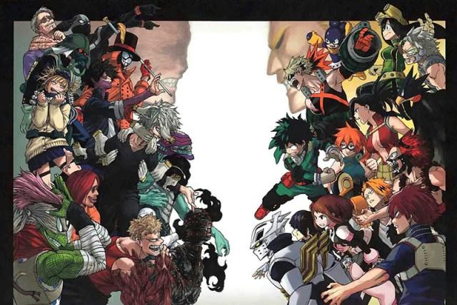 My hero Academia Villanos Heroes Personajes