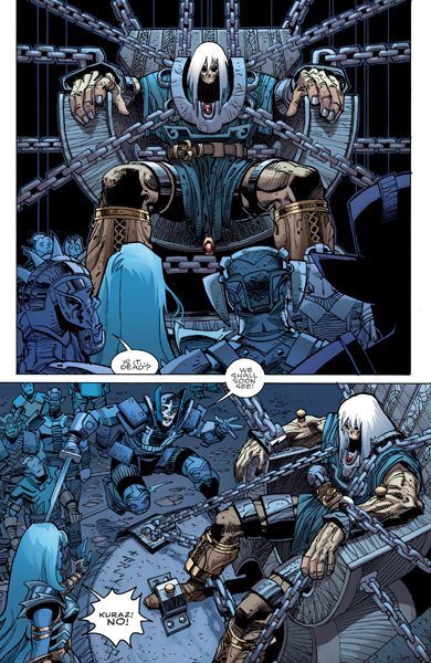 Thor en el comic de Ragnarök, de Walter Simonson