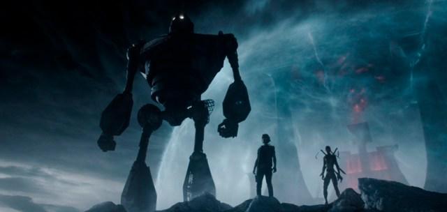 El Gigante de Hierro en la película