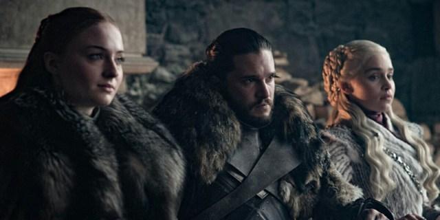 Jon Nieve Daeners y Sansa Stark