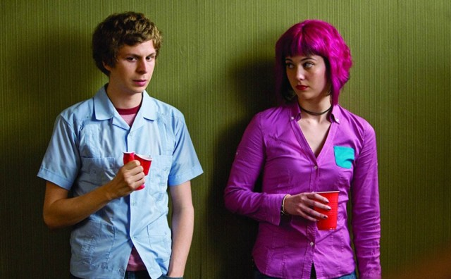 Scott Pilgrim (Michael Cera) y Ramona Flowers (Mary Elizabeth Winstead)