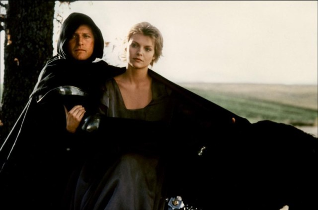 Rutger Hauer y Michelle Pfeiffer en Lady Halcón.