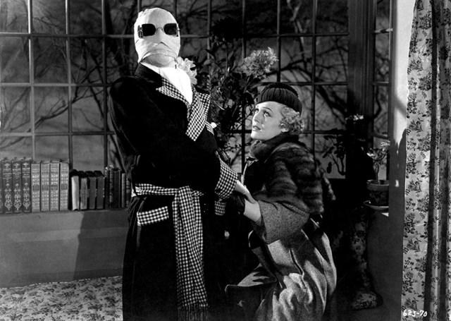 El hombre invisible Claude Rains y Gloria Stuart