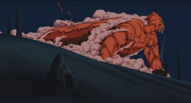 Escena de Nausicaä del Valle del Viento, creada por Hideaki Anno