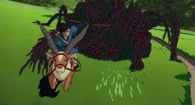 Ashitaka contra el demonio. La Princesa Mononoke