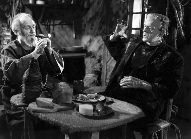 The Bride of Frankenstein. The Monster a the Blind Man.