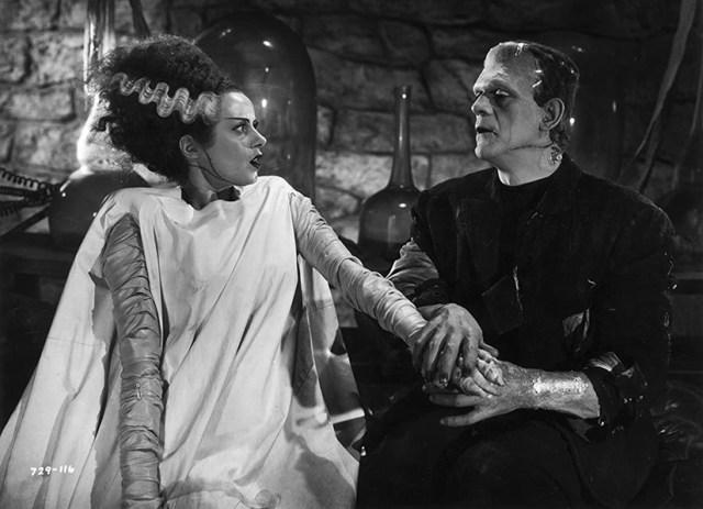 Elsa Lanchester y Boris Karloff en 'La novia de Frankenstein'