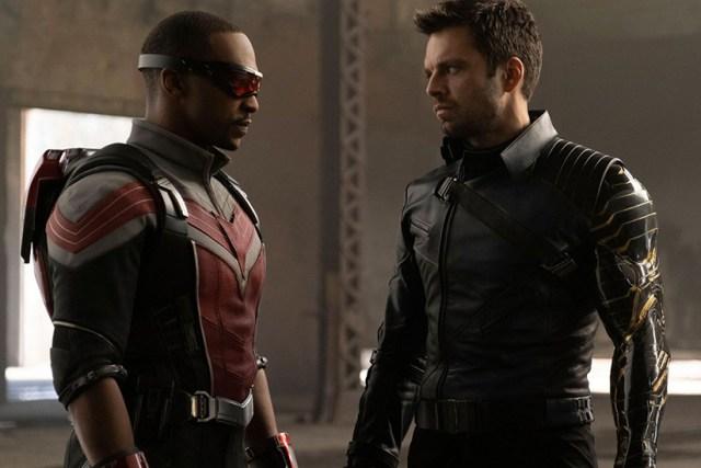 Anthony Mackie y Sebastian Stan en Falcon y el Soldado de Invierno