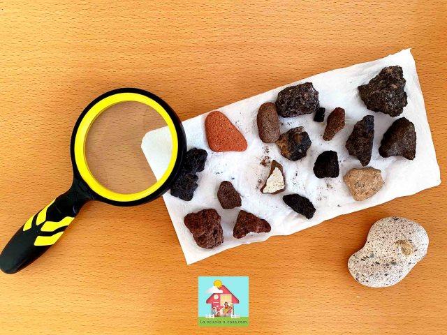 La collezione di rocce vulcaniche di Axel