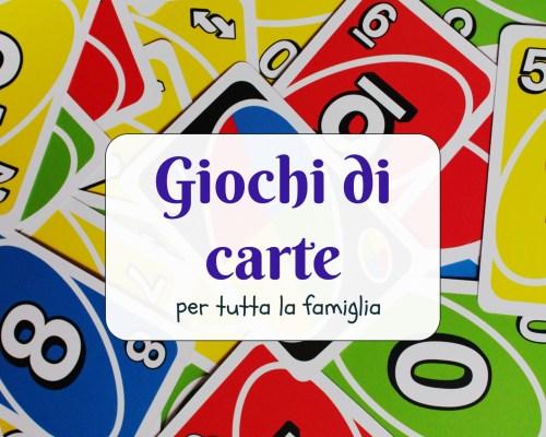 Giochi di carte per tutta la famiglia