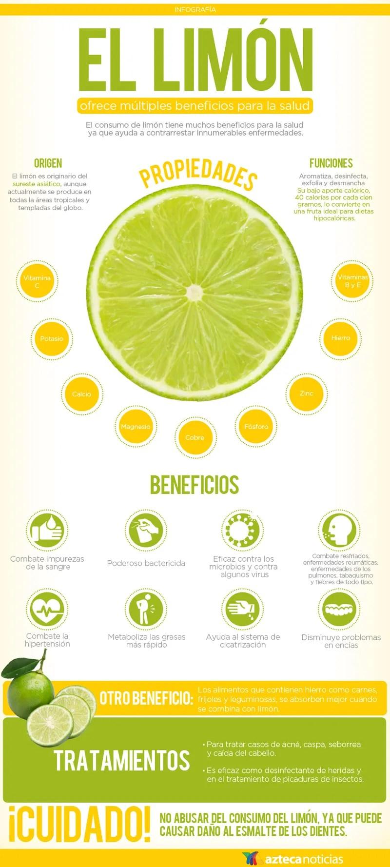 propiedades dle limón
