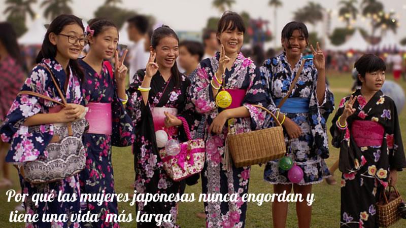 Por qué las mujeres japonesas nunca engordan y tiene una Larga Vida