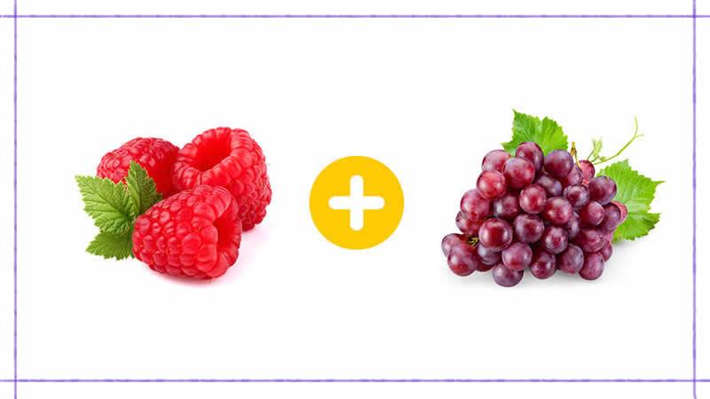 Frambuesas + uvas