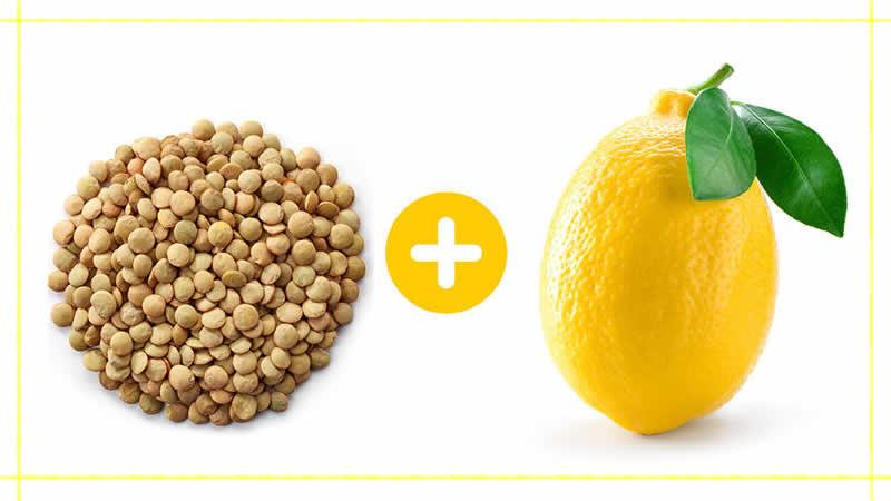 lenteja y limon