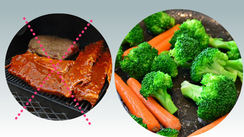 Coma Proteínas y Nutrientes De Vegetales Crudos Es Reemplazo a las Carnes Cocinados
