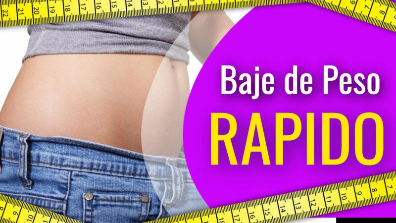 Baje de peso rápido: cambie su dieta