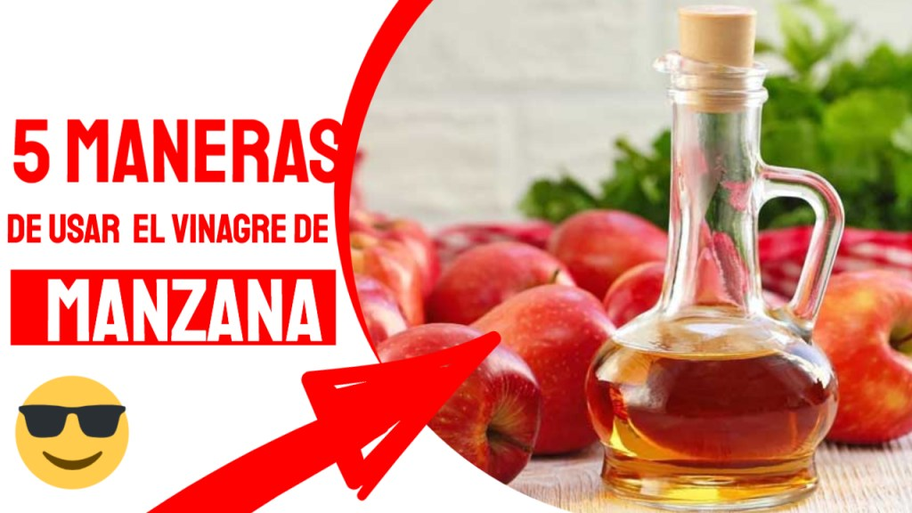 5 maneras de usar vinagre de manzana