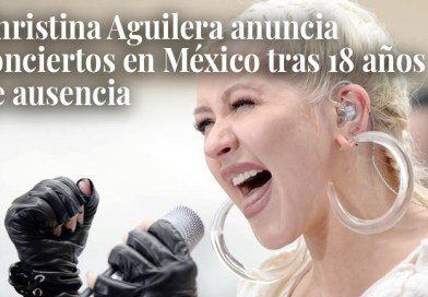 It's official! Christina Aguilera returns to Mexico