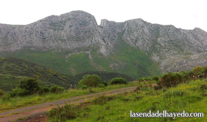 Camino Arintero - Tolibia con la Forqueta al fondo