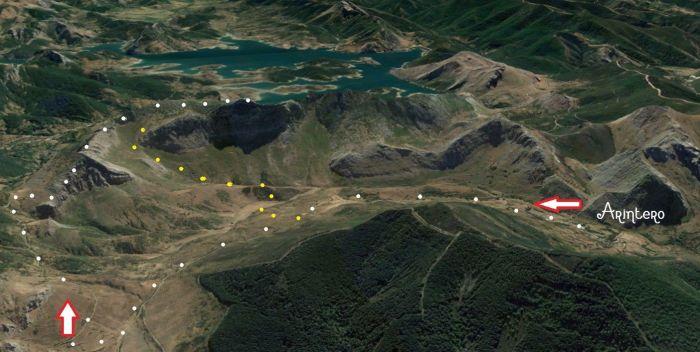 Mapa de la ruta a la Forqueta