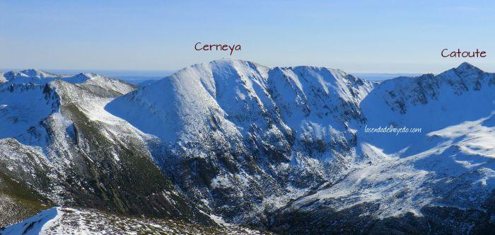 Panorámica de la sierra de Catoute y Cerneya