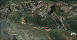 Mapa de la ruta a Catoute