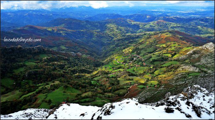 Panorámica hacia el oeste, con el pueblo de Melendreros en primer plano.
