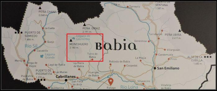 Mapa de Babia y de la zona que exploraremos