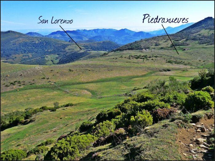 Ruta de ascensión desde San Lorenzo