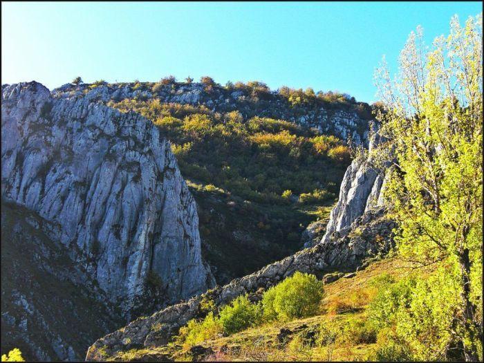 Foz del Palanco, al lado del pueblo de Geras
