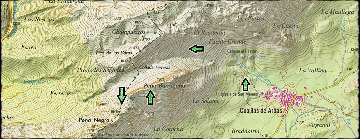 mapa barragana