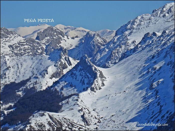 Estampa invernal del macizo Yordas-Las Pintas