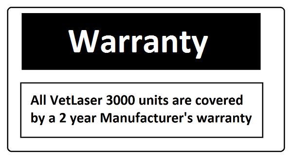 VetLaser 3000 warranty