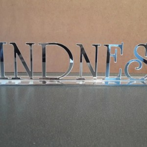 Name Stand Perspex 30cm LC25 R275