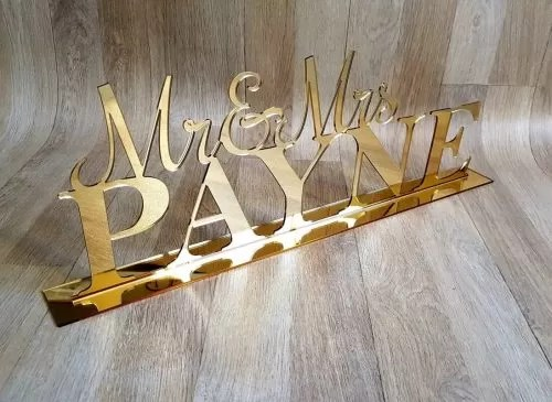 Name Stand Perspex 45cm LC39 R365