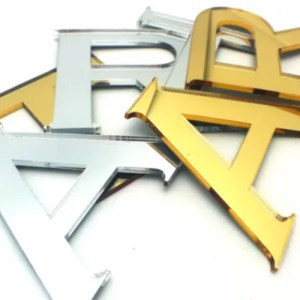 Silver Gold Letters