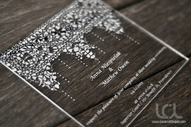 Customized 100 180mm Laser Engraved Letters Silver Mirror Acrylic Wedding Invitation Card 1lot