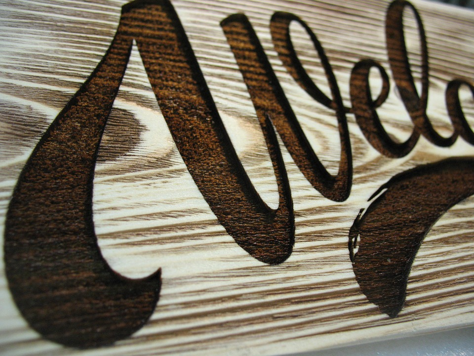 with laser engraving on wood
