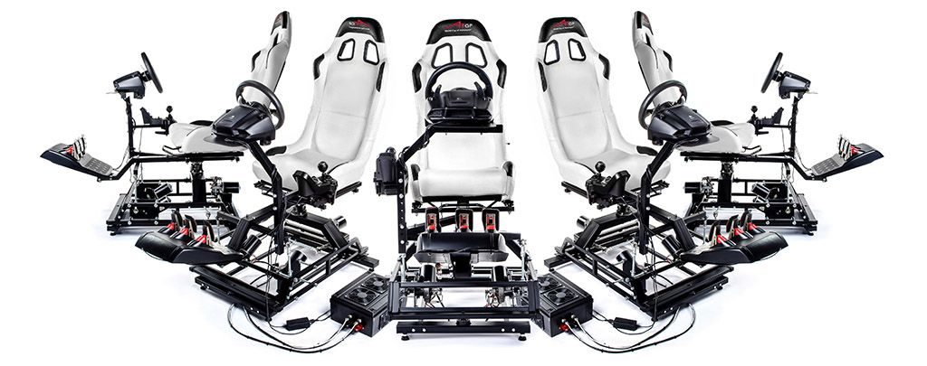 Fünf VR Motion Platforms