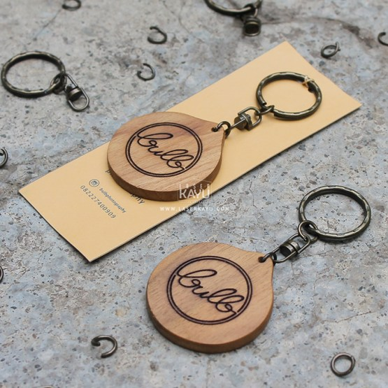 Merchandise-Laser-Kayu-Lingkaran-Custom Laser- Terbaik Logo Kerajinan-Kayu-Jati-Indonesia
