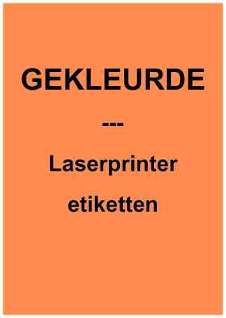 Gekleurde laserprinter etiketten