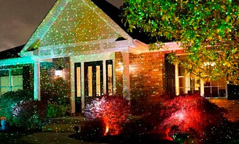 Лазерный проектор для Рождества Star Shower Laser Light Projector