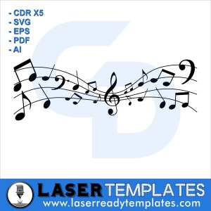 Music notes laser ready